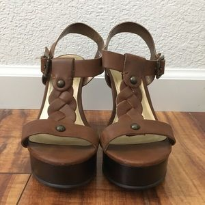 Mossimo supply co braided t-strap wedges